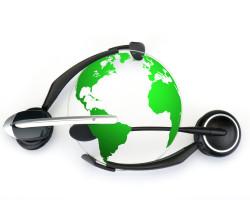 headset globe